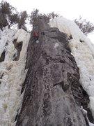 Rock Climbing Photo: Hard move, steep!