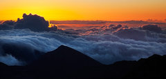 Rock Climbing Photo: Sunrise on Haleakala