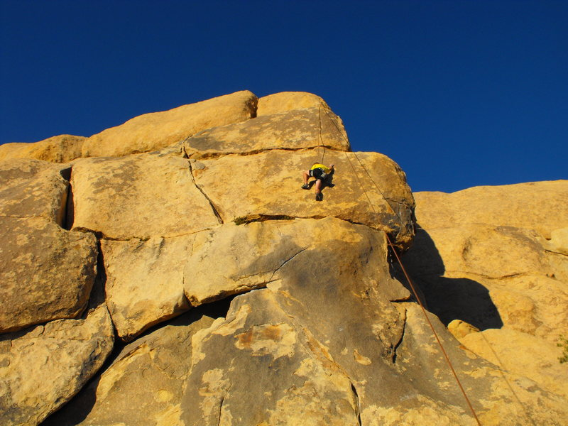 5.11c slab at jtree. one of my favorites