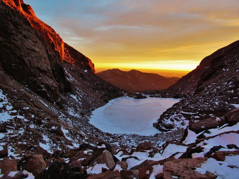 Rock Climbing Photo: Chasm Lake, RMNP