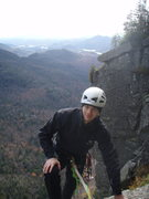 top of wall face in the adirondacks after climbing diagonal