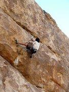 Rock Climbing Photo: Jeffy on Big Moe (5.11a), Joshua Tree NP