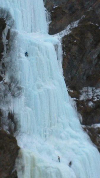 Rock Climbing Photo: looking small on keystone green steps near valdez