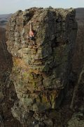 Rock Climbing Photo: 5.10c on pillar, sport