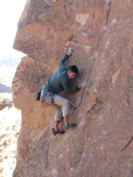 Rock Climbing Photo: Lower section of Lets Face It