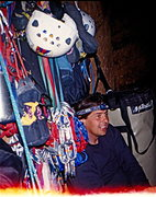 Bivy, top of pitch 6 - Lunar Ecstasy - Zion March 2002