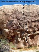 Rock Climbing Photo: Iron Meteorite (aka Kingpin) (V5 R), Joshua Tree N...
