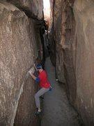 Rock Climbing Photo: Walking Mexican Down the Hall (V0-), Joshua Tree N...