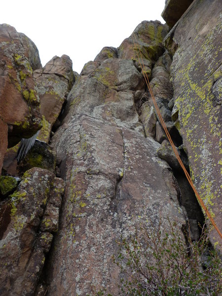 Rock Climbing Photo: The route is just to the left of the rope.