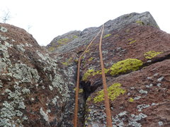 Rock Climbing Photo: Looking up at the short 5.8 section.