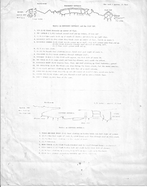 First Blue Mounds route guide - page 1, circa 1975