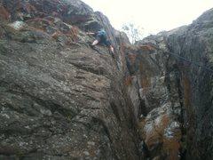Rock Climbing Photo: Directly below crux