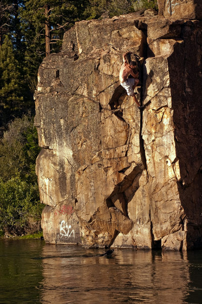 Rock Climbing Photo: Always good to bring a lifeguard.  Scamp patrols t...