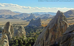 Rock Climbing Photo: View of Parking Lot Rock, Morning Glory, Bath Rock...