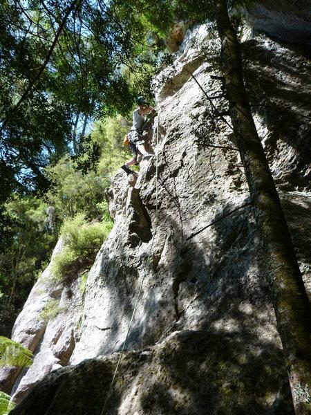 Rock Climbing Photo: Climber on Galaxy Wall