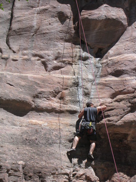 Rock Climbing Photo: Brian tickling the Dangling Participle
