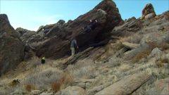Rock Climbing Photo: v1 Traverse Jan/2013