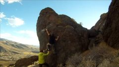 Rock Climbing Photo: v1 Sharktooth Dec/2013