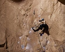 Rock Climbing Photo: Wallstreet - Knapping With The Alien