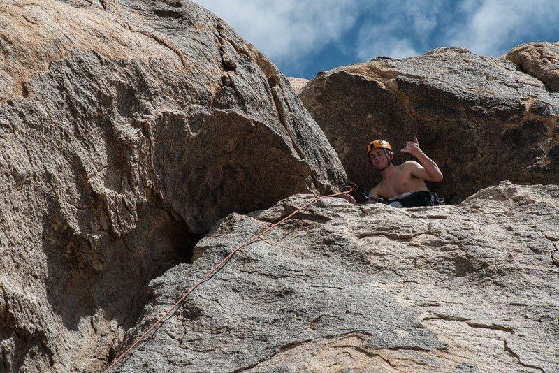 Rock Climbing Photo: dogleg, j tree, sendin.  Photo: Willie Wenzalu