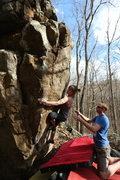 Rock Climbing Photo: Vanessa gettin' it done!