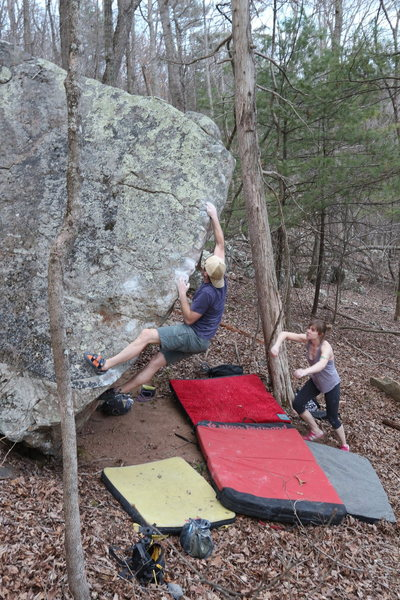 Rock Climbing Photo: Working the L arete