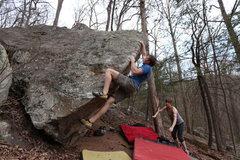 Rock Climbing Photo: Travis Melin cruising the Arete
