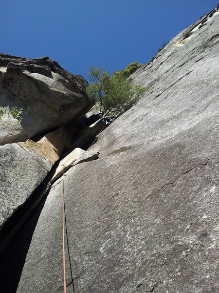 Dylan on lead pulling through the 10c undercling variation on P1