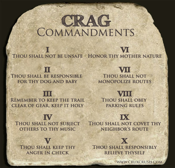 Crag Commandments
