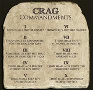 Crag Commandments