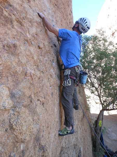 """Rock Climbing Photo: The bouldery opening moves of """"Sophie's Choic..."""