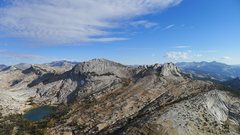 Rock Climbing Photo: Cathedral Traverse from Cathedral Peak, Tuolumne M...