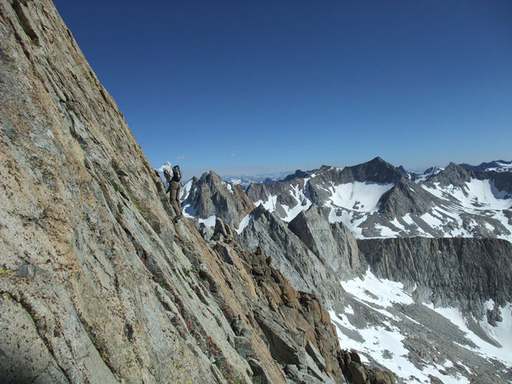Mike C on our Evolution Traverse recon, High Sierra