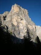 Rock Climbing Photo: The soaring south face of Torre Venezia(Aug. 2008)...
