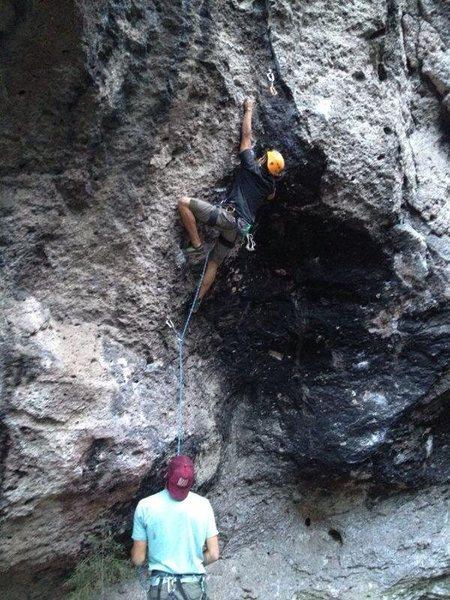 Rock Climbing Photo: 5.12b overhang