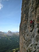 Rock Climbing Photo: Pitch 8 traverse on Constantini/Ghedina on the ama...