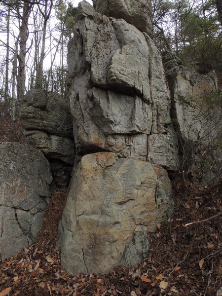 Rock Climbing Photo: This is the last climbable boulder you'll find as ...