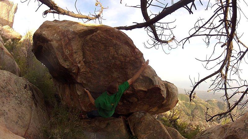 Rock Climbing Photo: Making the initial chuck