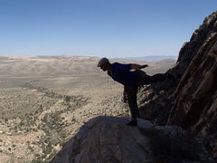 Rock Climbing Photo: NV: Red Rocks, On top of Rising Moons 5.5