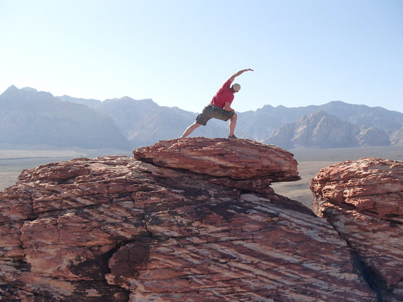 NV; Red Rocks, On top of Calico Basin