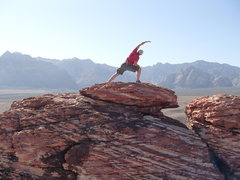 Rock Climbing Photo: NV; Red Rocks, On top of Calico Basin