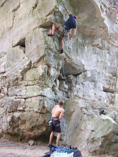 Rock Climbing Photo: AL: Sand Rock, 5.10c