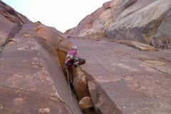 Rock Climbing Photo: Rachel Greenberg rising to the Challenge on pitch ...