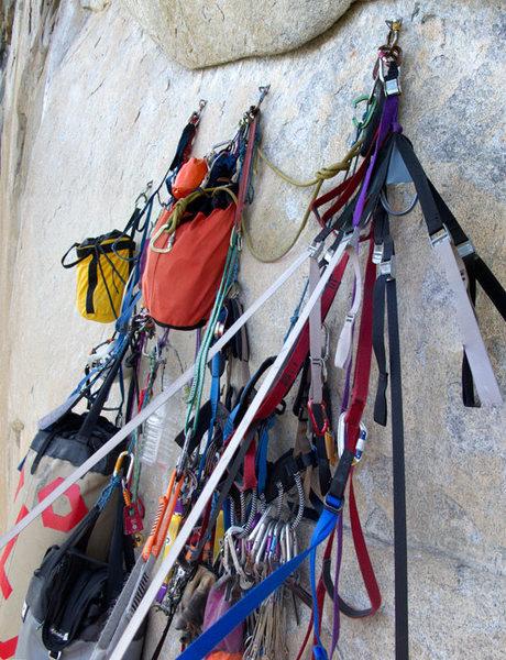 Rock Climbing Photo: A bivy anchor on Iron Hawk.