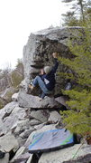Rock Climbing Photo: Moving the feet.