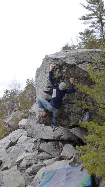 Rock Climbing Photo: Hitting the ok sloper.