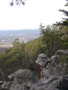 Rock Climbing Photo: This is the view from the trail where it brings yo...