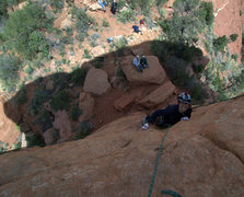 Rock Climbing Photo: Bill Hiscox and Scott Sellers watching Scott's nie...
