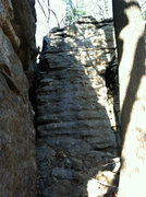 Rock Climbing Photo: There are new toprope anchors on this unknown rout...