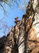 "Rock Climbing Photo: Chase Webb on the first ascent of ""Grade Expe..."
